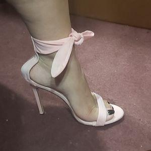 Light Pink Tie Up Heels